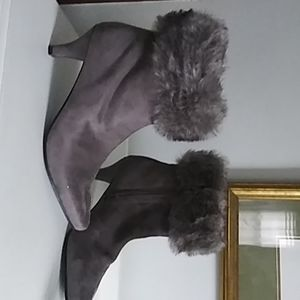 Impo slate gray women's booties